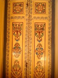 hand painted door