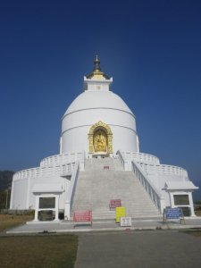 World Pagoda in Pokhara Nepal