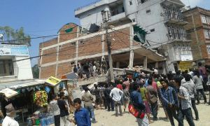 After Yesterday's Aftershock in Kathmandu, Nepal May 13, 2015